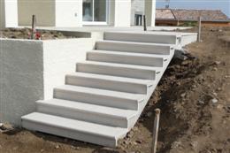 Escalier beton exterieur prefabrique